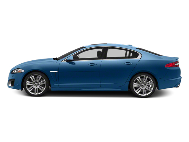 Kyanite Blue Metallic 2013 Jaguar XF Pictures XF Sedan 4D XFR V8 Supercharged photos side view