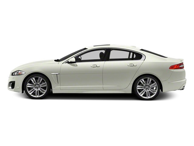 Polaris White 2013 Jaguar XF Pictures XF Sedan 4D XFR V8 Supercharged photos side view