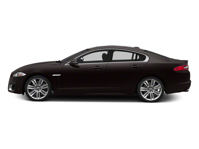 Ultimate Black Metallic 2013 Jaguar XF Pictures XF Sedan 4D XFR V8 Supercharged photos side view