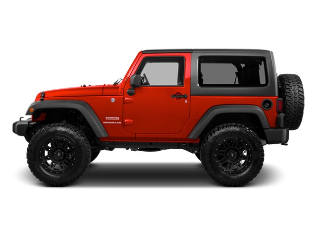 Flame Red 2013 Jeep Wrangler Pictures Wrangler Utility 2D Rubicon 4WD photos side view