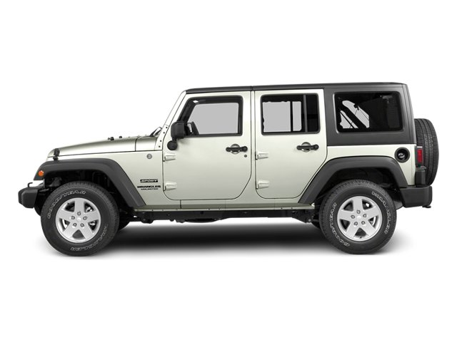 Bright White 2013 Jeep Wrangler Unlimited Pictures Wrangler Unlimited Utility 4D Unlimited Sahara 4WD photos side view