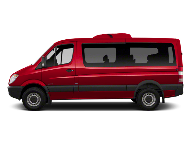 Flame Red 2013 Mercedes-Benz Sprinter Passenger Vans Pictures Sprinter Passenger Vans Passenger Van photos side view