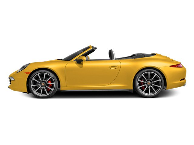 Racing Yellow 2013 Porsche 911 Pictures 911 Cabriolet 2D 4S AWD H6 photos side view