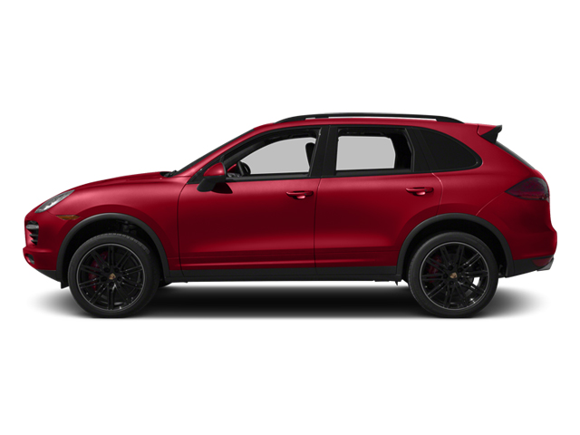 Carmine Red 2013 Porsche Cayenne Pictures Cayenne Utility 4D Turbo AWD (V8) photos side view