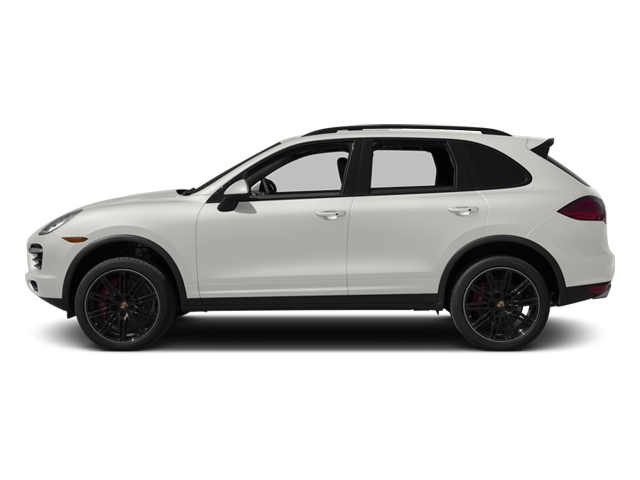 White 2013 Porsche Cayenne Pictures Cayenne Utility 4D Turbo AWD (V8) photos side view