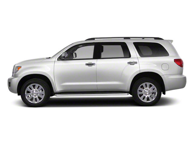 Super White 2013 Toyota Sequoia Pictures Sequoia Utility 4D SR5 2WD V8 photos side view