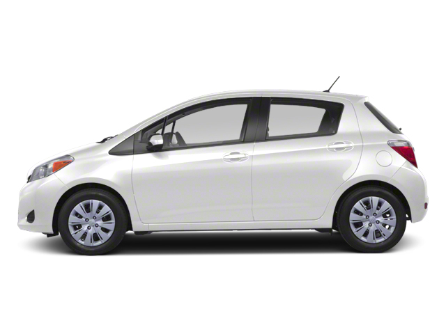 Super White 2013 Toyota Yaris Pictures Yaris Hatchback 5D LE I4 photos side view