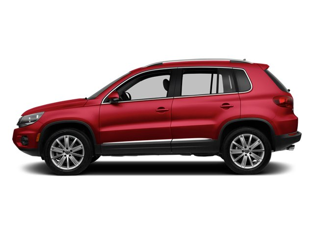 Wild Cherry Metallic 2013 Volkswagen Tiguan Pictures Tiguan Utility 4D SEL 2WD I4 Turbo photos side view