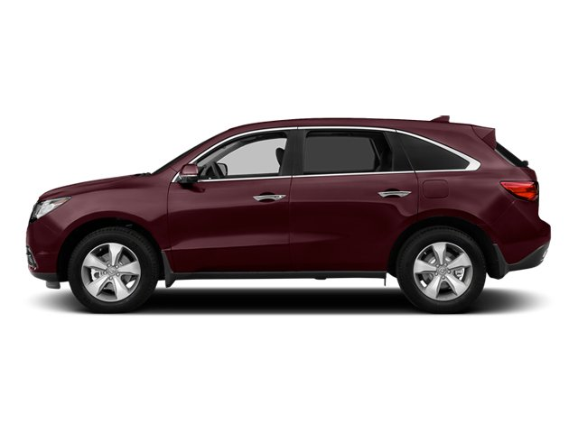 Dark Cherry Pearl 2014 Acura MDX Pictures MDX Utility 4D 2WD V6 photos side view