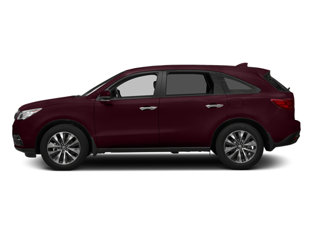 Dark Cherry Pearl 2014 Acura MDX Pictures MDX Utility 4D Technology DVD AWD V6 photos side view