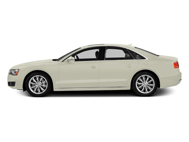 Glacier White Metallic 2014 Audi A8 Pictures A8 Sedan 4D 4.0T AWD V8 Turbo photos side view