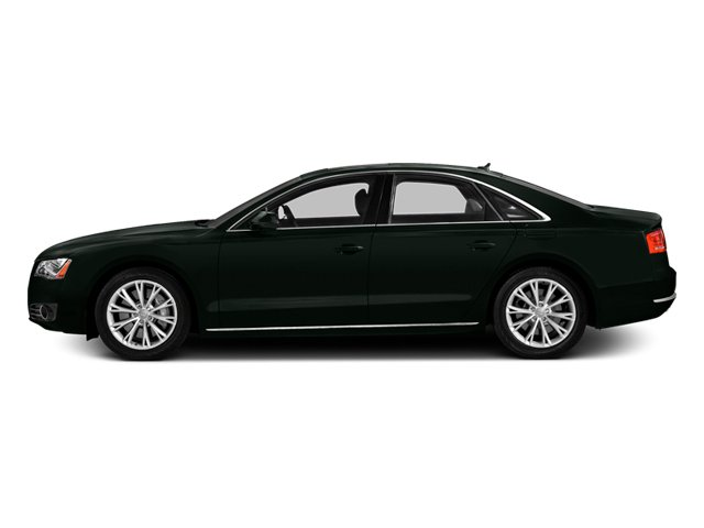 Emerald Black Metallic 2014 Audi A8 Pictures A8 Sedan 4D 4.0T AWD V8 Turbo photos side view