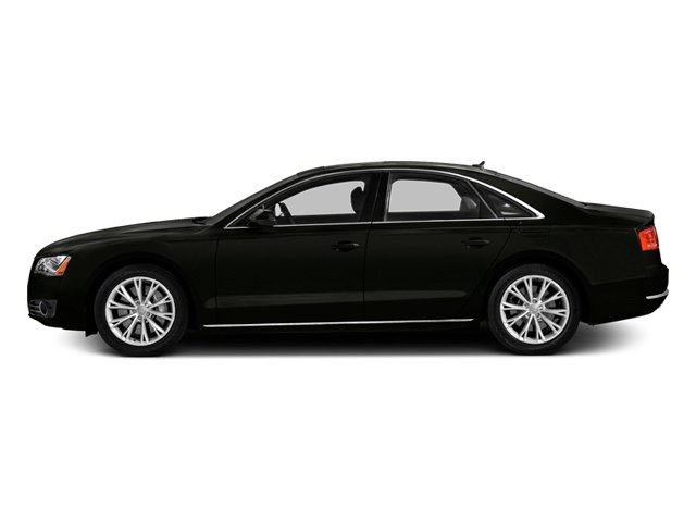 Havanna Black Metallic 2014 Audi A8 Pictures A8 Sedan 4D 4.0T AWD V8 Turbo photos side view