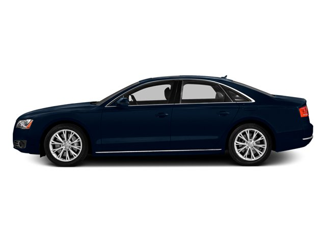 Night Blue Pearl Effect 2014 Audi A8 Pictures A8 Sedan 4D 4.0T AWD V8 Turbo photos side view
