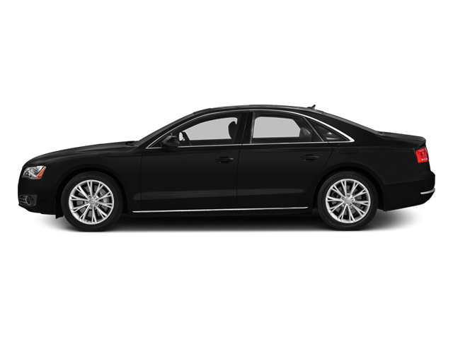 Brilliant Black 2014 Audi A8 Pictures A8 Sedan 4D 4.0T AWD V8 Turbo photos side view