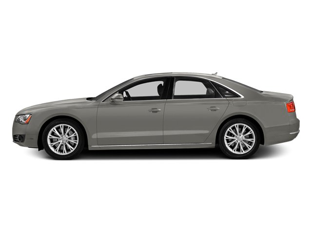 Quartz Gray Metallic 2014 Audi A8 Pictures A8 Sedan 4D 4.0T AWD V8 Turbo photos side view