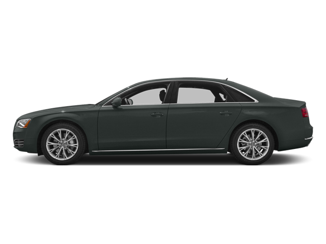 Monsoon Gray Metallic 2014 Audi A8 L Pictures A8 L Sedan 4D 3.0T L AWD V6 Turbo photos side view