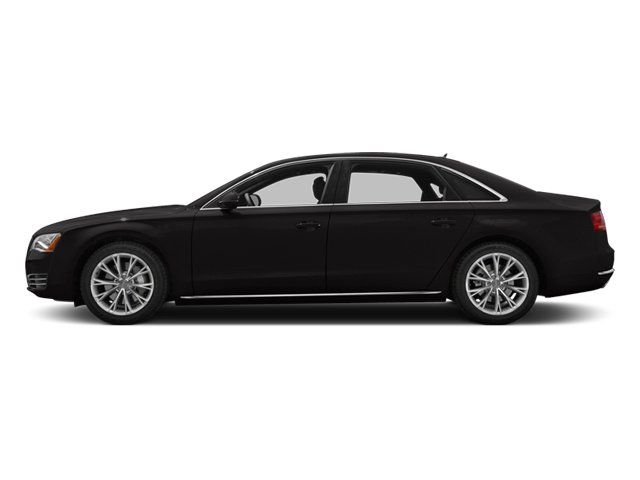 Oolong Gray Metallic 2014 Audi A8 L Pictures A8 L Sedan 4D 3.0T L AWD V6 Turbo photos side view
