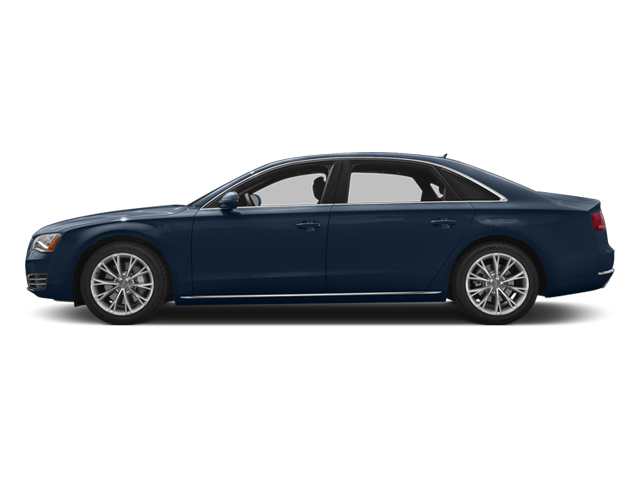 Night Blue Pearl Effect 2014 Audi A8 L Pictures A8 L Sedan 4D 3.0T L AWD V6 Turbo photos side view