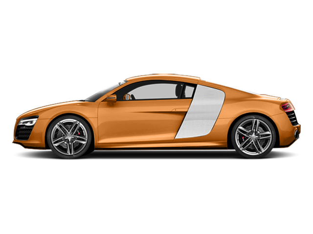 Samoa Orange Metallic 2014 Audi R8 Pictures R8 2 Door Coupe Quattro V8 (Manual) photos side view