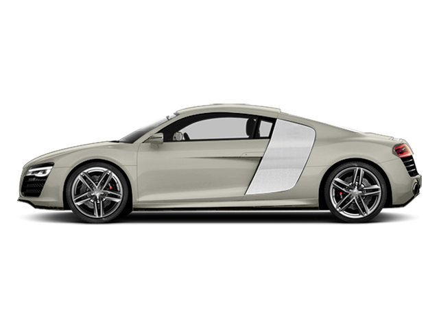 Ice Silver Metallic 2014 Audi R8 Pictures R8 2 Door Coupe Quattro V8 (Manual) photos side view