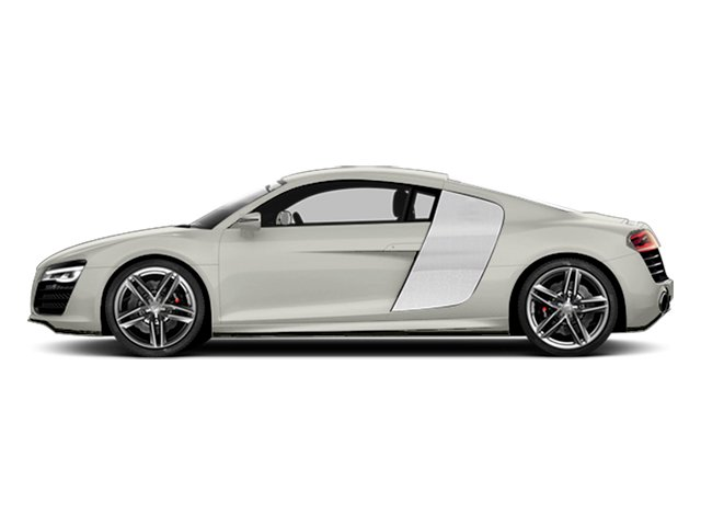 Ibis White 2014 Audi R8 Pictures R8 2 Door Coupe Quattro V8 (Manual) photos side view