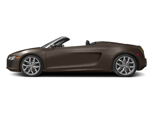 Teak Brown Metallic/Black Roof 2014 Audi R8 Pictures R8 2 Door Convertible Quattro Spyder V10 (Manual) photos side view