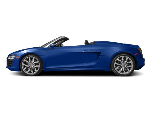 Sepang Blue Pearl Effect/Black Roof 2014 Audi R8 Pictures R8 2 Door Convertible Quattro Spyder V10 (Manual) photos side view