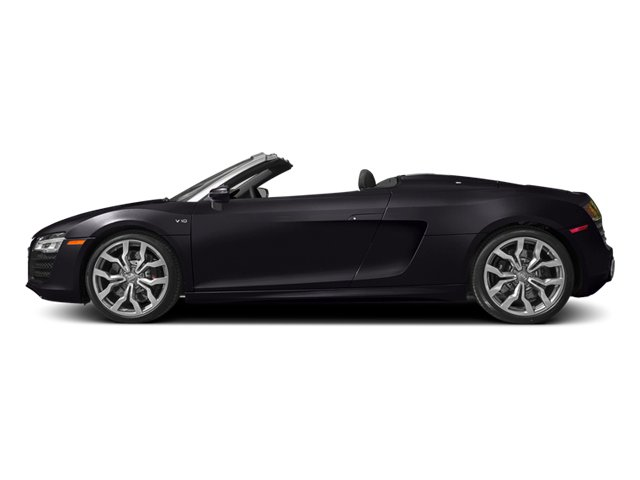 Panther Black Crystal Effect/Black Roof 2014 Audi R8 Pictures R8 2 Door Convertible Quattro Spyder V10 (Manual) photos side view