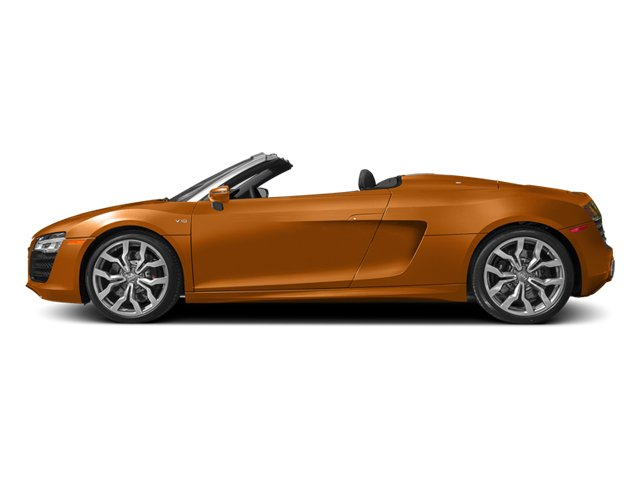 Samoa Orange Metallic/Black Roof 2014 Audi R8 Pictures R8 2 Door Convertible Quattro Spyder V10 (Manual) photos side view
