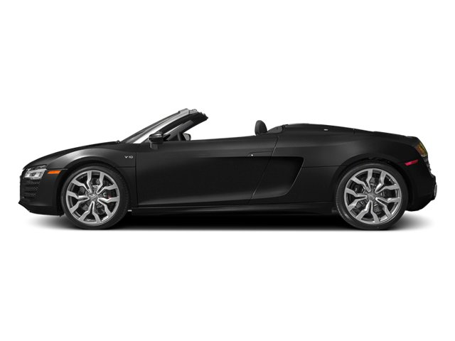 Phantom Black Pearl Effect/Black Roof 2014 Audi R8 Pictures R8 2 Door Convertible Quattro Spyder V10 (Manual) photos side view