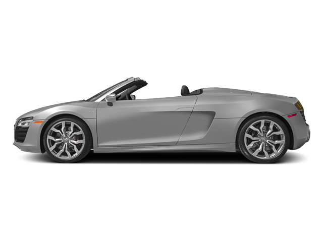 Ice Silver Metallic/Black Roof 2014 Audi R8 Pictures R8 2 Door Convertible Quattro Spyder V10 (Manual) photos side view