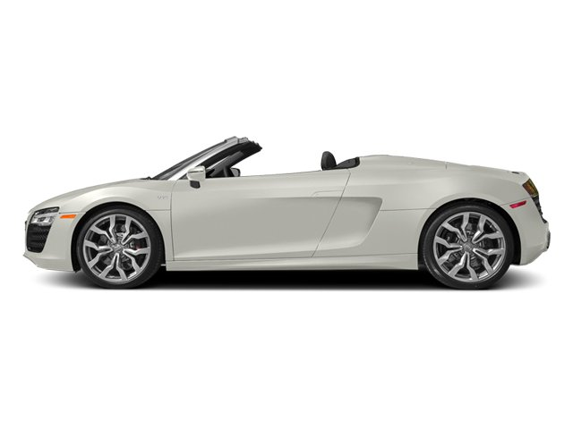 Ibis White/Black Roof 2014 Audi R8 Pictures R8 2 Door Convertible Quattro Spyder V10 (Manual) photos side view