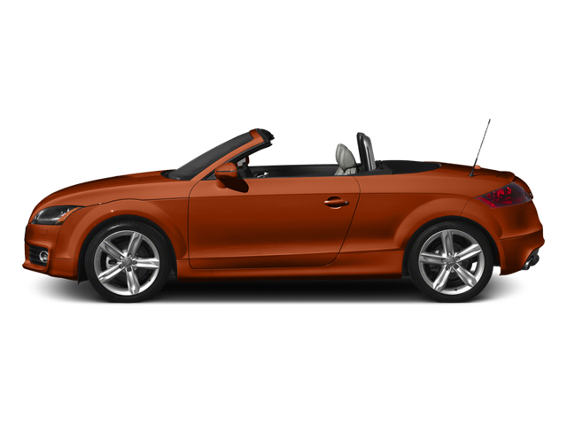 Volcano Red Metallic/Black Roof 2014 Audi TT Pictures TT Roadster 2D AWD photos side view