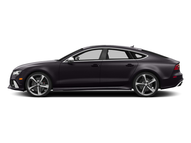 Panther Black Crystal Effect 2014 Audi RS 7 Pictures RS 7 Sedan 4D Prestige AWD photos side view