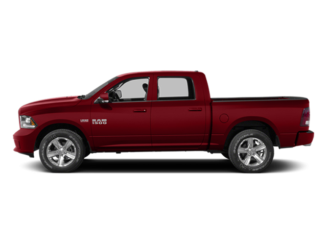 Flame Red Clearcoat 2014 Ram Truck 1500 Pictures 1500 Crew Cab Tradesman 2WD photos side view