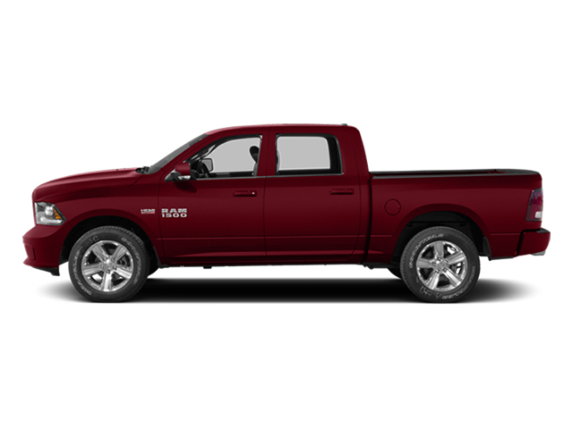 Deep Cherry Red Crystal Pearlcoat 2014 Ram Truck 1500 Pictures 1500 Crew Cab Tradesman 2WD photos side view