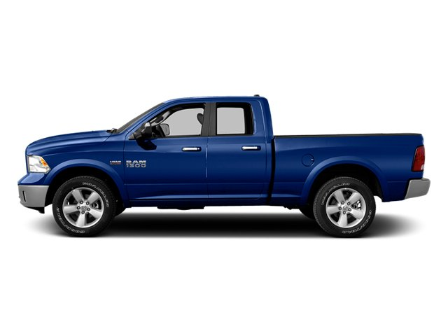Blue Streak Pearlcoat 2014 Ram Truck 1500 Pictures 1500 Quad Cab Outdoorsman 4WD photos side view
