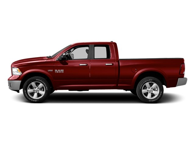Deep Cherry Red Crystal Pearlcoat 2014 Ram Truck 1500 Pictures 1500 Quad Cab Express 4WD photos side view