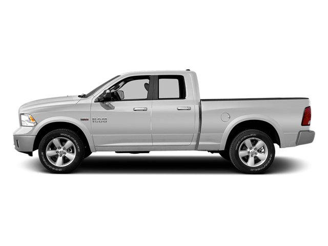 Bright White Clearcoat 2014 Ram Truck 1500 Pictures 1500 Quad Cab Outdoorsman 4WD photos side view