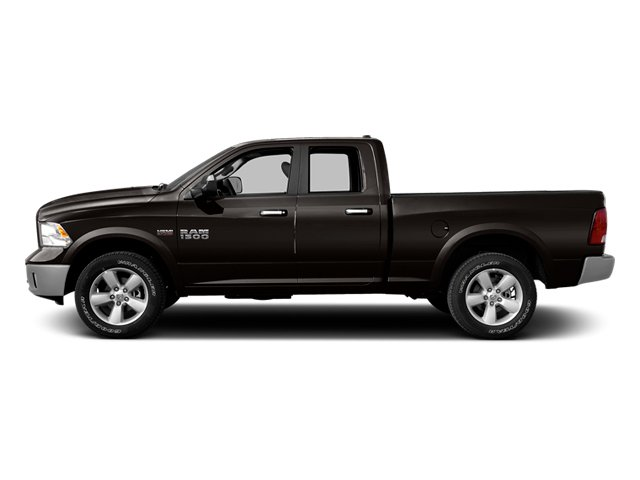 Black Clearcoat 2014 Ram Truck 1500 Pictures 1500 Quad Cab Express 4WD photos side view