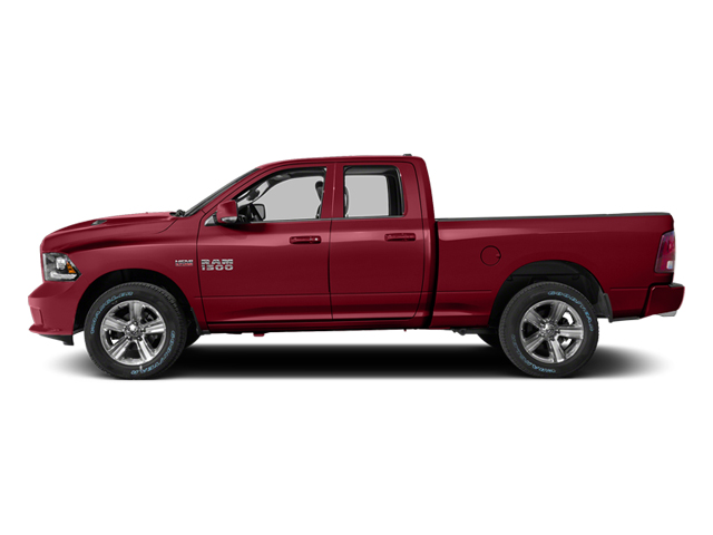Deep Cherry Red Crystal Pearlcoat 2014 Ram Truck 1500 Pictures 1500 Quad Cab Sport 2WD photos side view