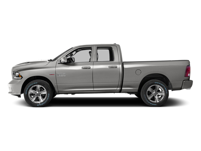 Bright Silver Metallic Clearcoat 2014 Ram Truck 1500 Pictures 1500 Quad Cab Sport 2WD photos side view