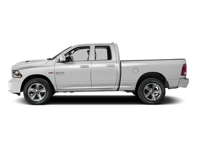 Bright White Clearcoat 2014 Ram Truck 1500 Pictures 1500 Quad Cab Sport 2WD photos side view