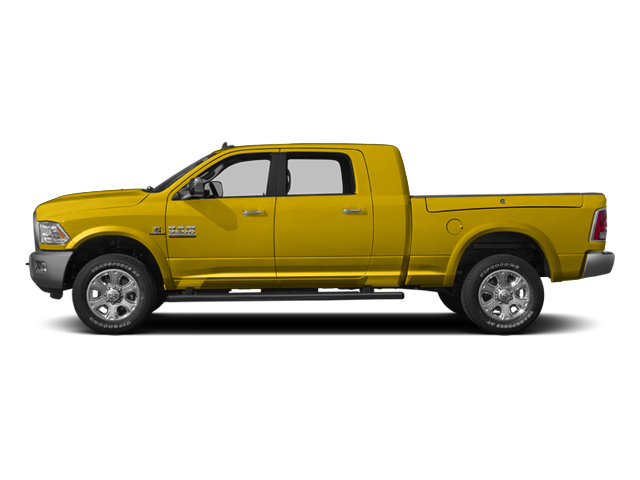 Yellow 2014 Ram Truck 3500 Pictures 3500 Mega Cab SLT 2WD photos side view