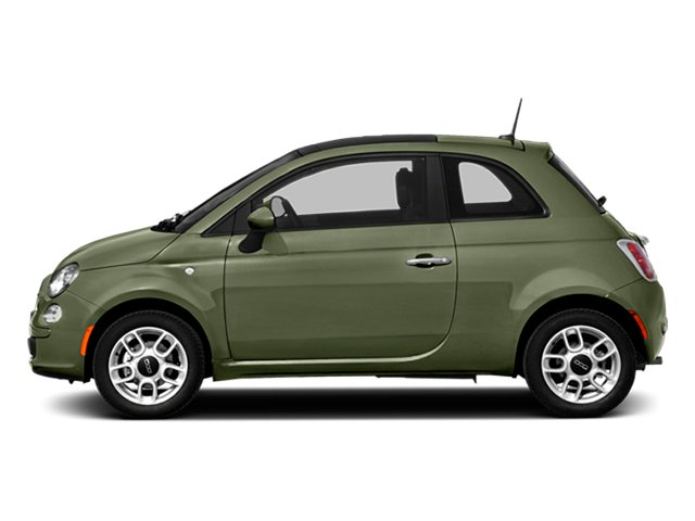Verde Oliva (Olive Green) 2014 FIAT 500 Pictures 500 Hatchback 3D Sport I4 photos side view