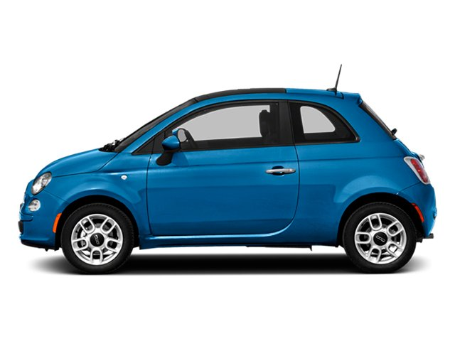 Verde Azzurro (Blue-Green) 2014 FIAT 500 Pictures 500 Hatchback 3D Sport I4 photos side view