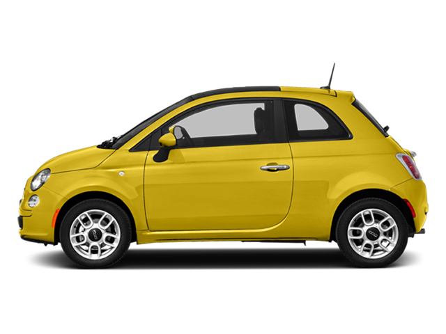 Giallo (Yellow) 2014 FIAT 500 Pictures 500 Hatchback 3D Sport I4 photos side view