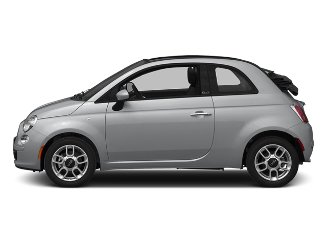 Argento (Silver) 2014 FIAT 500c Pictures 500c Convertible 2D Lounge I4 photos side view