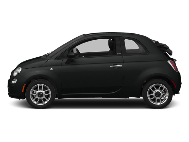 Nero Puro (Straight Black) 2014 FIAT 500c Pictures 500c Convertible 2D Lounge I4 photos side view